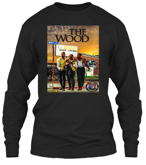 The Wood Black Long Sleeve T-Shirt Front
