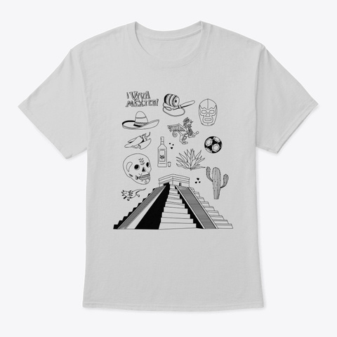 Mexico Light Steel T-Shirt Front