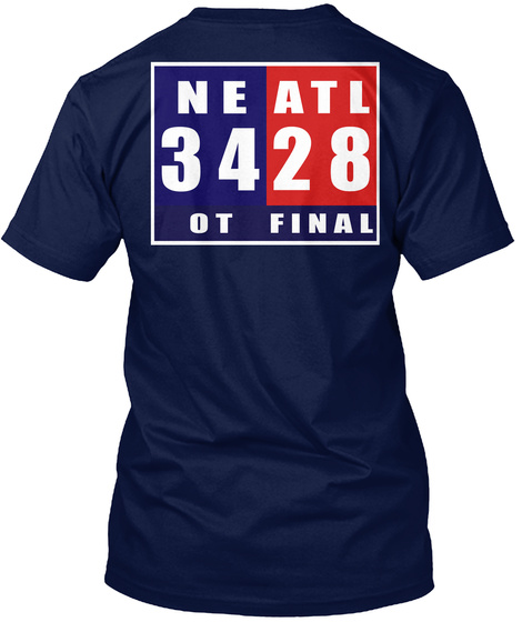 Neatl 3428 Ot Final Navy T-Shirt Back
