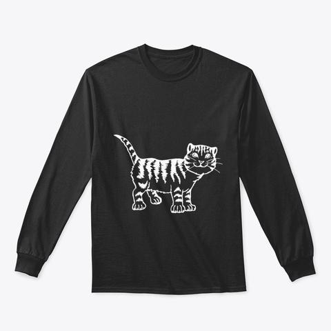 Cat Kkxkr Black T-Shirt Front
