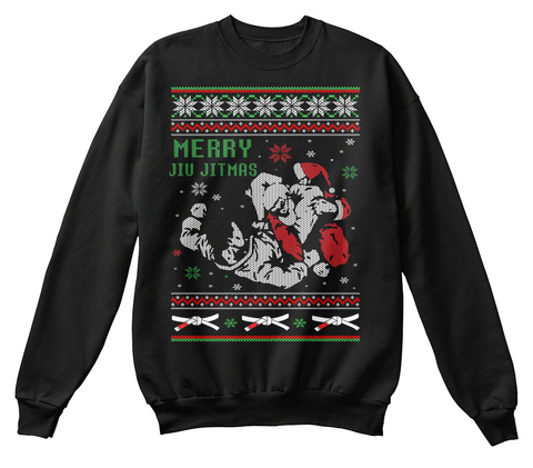 Merry Jiu Jitmas Black Sweatshirt Front