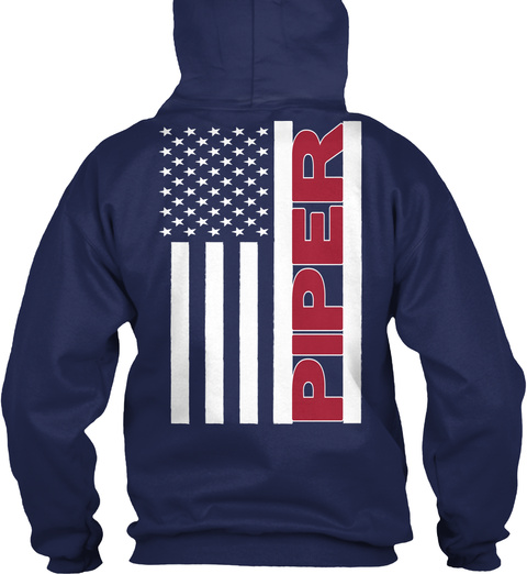 Piper Navy Sweatshirt Back