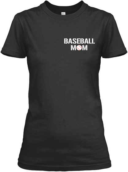 Baseball Mom Black Damen T-Shirt Front