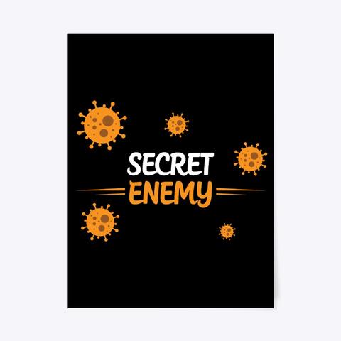 Secret Enemy Corona Covid19 Black T-Shirt Front