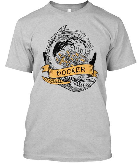 Docker Print From Cards (Us) Light Steel T-Shirt Front