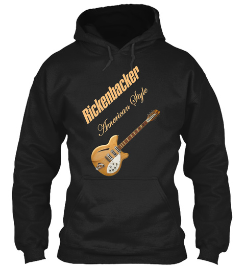Rickenbacker Natural 12 S American Style Black T-Shirt Front