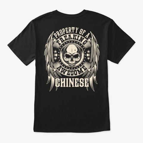 Awesome Chinese Shirt Black T-Shirt Back