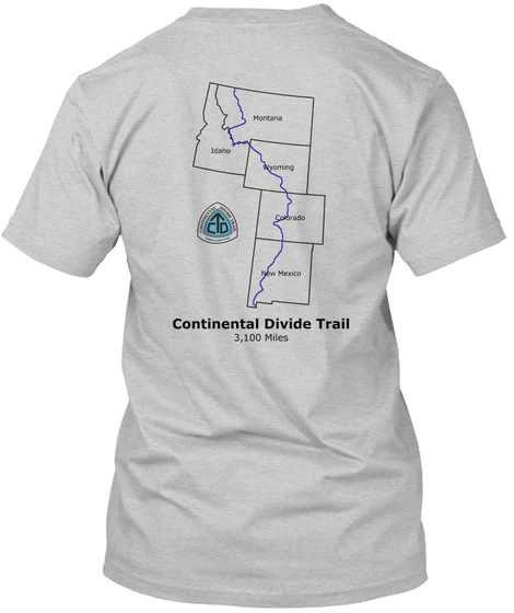 Continental Divide Trail Light Steel T-Shirt Back