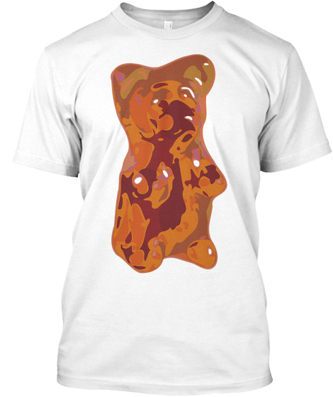 Giant Gummy Bear White T-Shirt Front