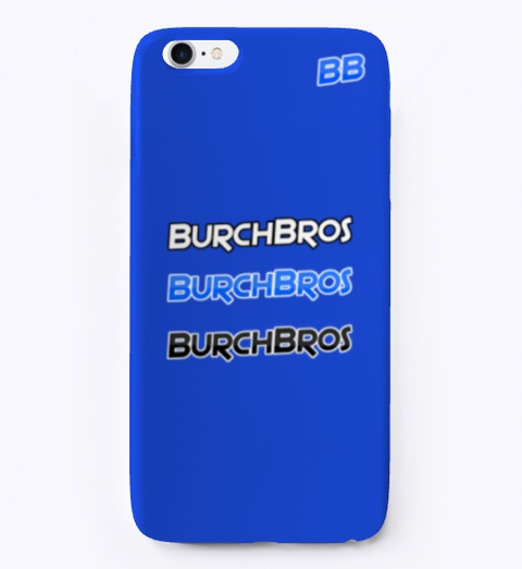 Burch Bros Phone Case Royal Blue T-Shirt Front