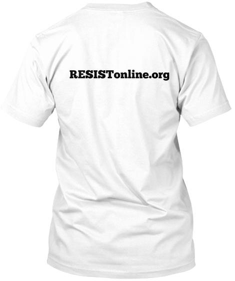 Resis Tonline.Org White T-Shirt Back