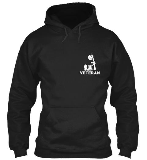 Veteran Black Sweatshirt Front