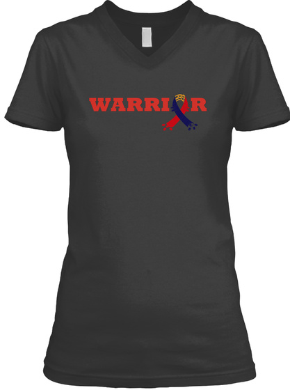 Warrior Black T-Shirt Front