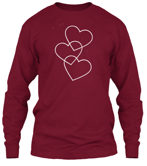 Heart Love Valentine T'shirt 2017 Cardinal Red Long Sleeve T-Shirt Front