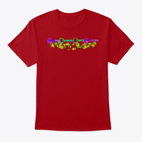 Cd Dance Collective Holiday 2019 Deep Red T-Shirt Front