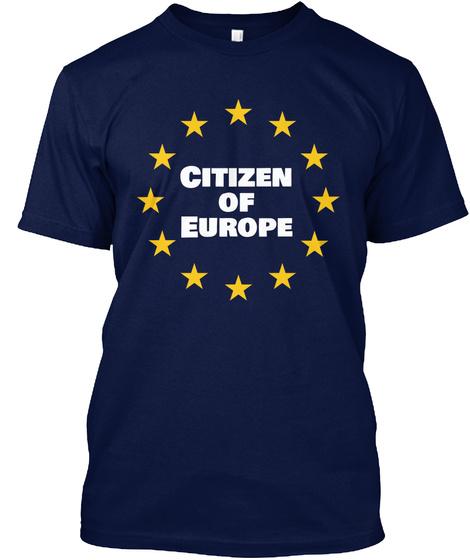 Citizen Od Europe Navy T-Shirt Front