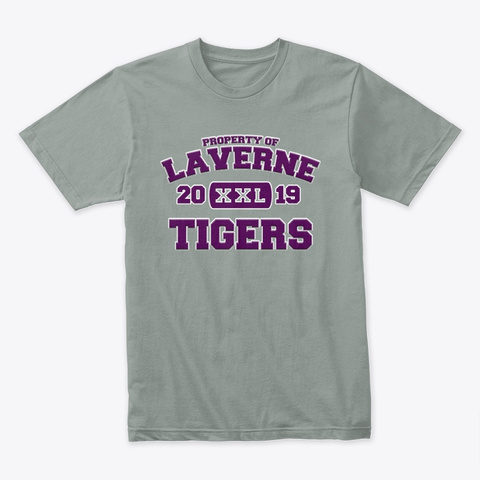 Property Of Laverne Tigers   Xxl  Purple Warm Grey T-Shirt Front