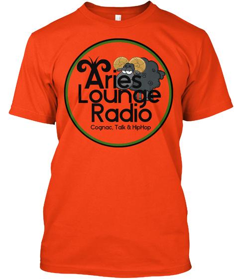 Aries Lounge Radio Deep Orange  T-Shirt Front