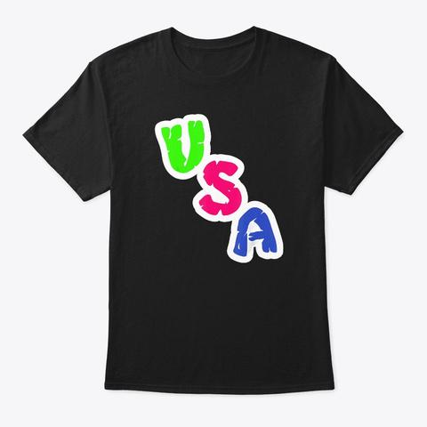 Usa Labor Patriot Day T Shirt Black T-Shirt Front