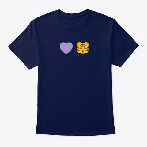 Heart Tiger Navy T-Shirt Front