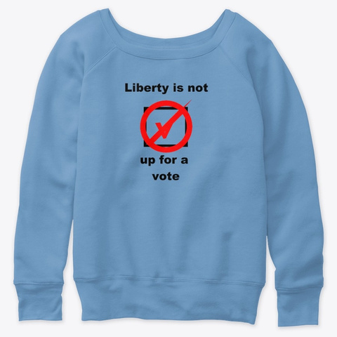 Not Subject To A Vote Blue Triblend  T-Shirt Front