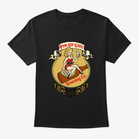 Pin Up Girl Brewing Co. Black T-Shirt Front