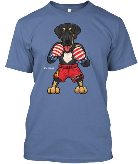 Ko Cancer Denim Blue T-Shirt Front