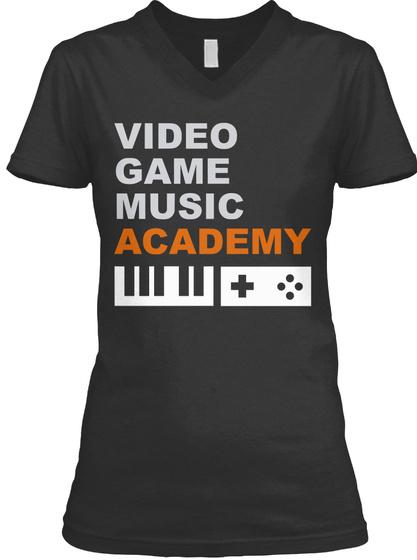 Vgm Academy: Women's V Neck Fitted T! Dark Grey Heather T-Shirt Front