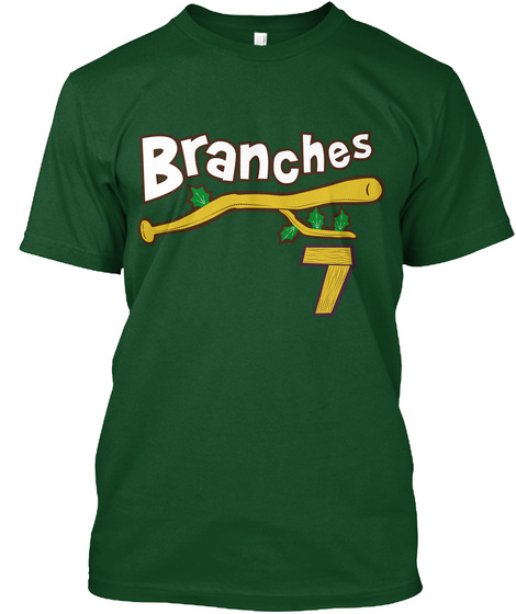 Brooklyn Branches: Green Alternate Deep Forest T-Shirt Front