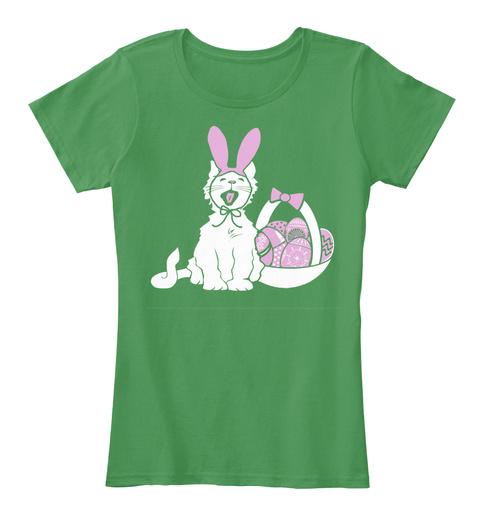 Easter Kitty Kelly Green  T-Shirt Front