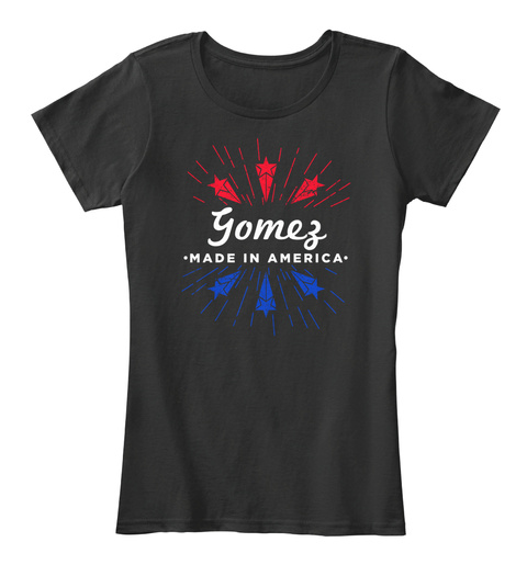 Gomez Made In America Black T-Shirt Front