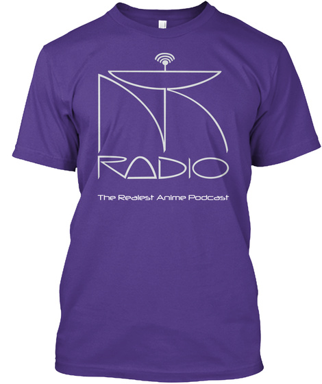 Radio The Realest Anime Podcast Purple T-Shirt Front