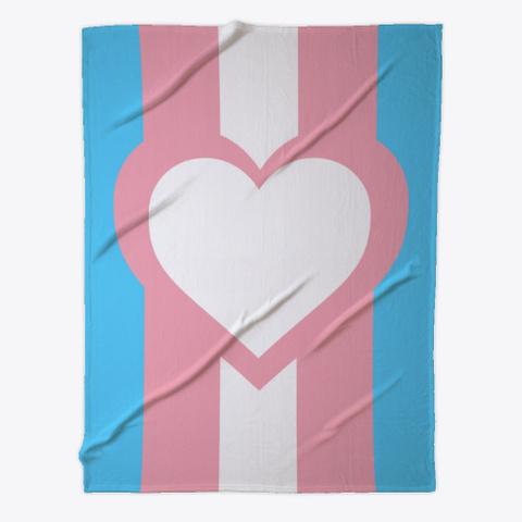 Transgender Flag Heart Standard T-Shirt Front