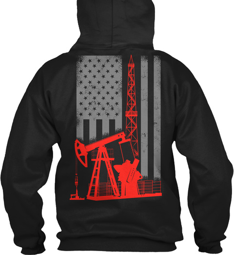 Oilfield Flag! Limited Edition! Black T-Shirt Back