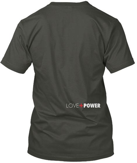 Resist + Persist Grey Smoke Gray T-Shirt Back
