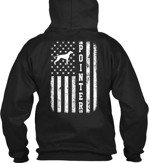Pointer Flag Funny Gift Black T-Shirt Back