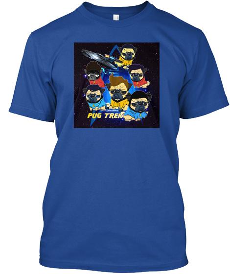 Pug Then Deep Royal T-Shirt Front