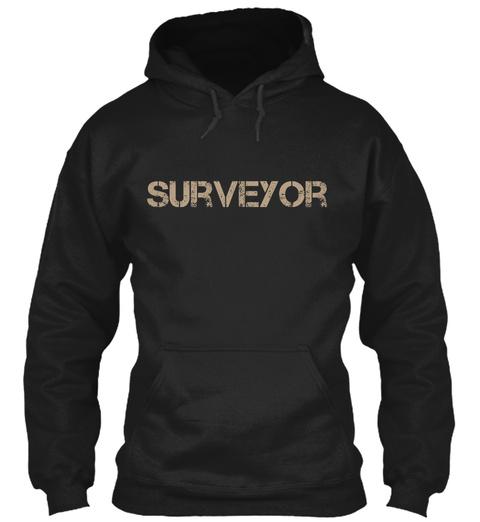 Surveyor Black T-Shirt Front
