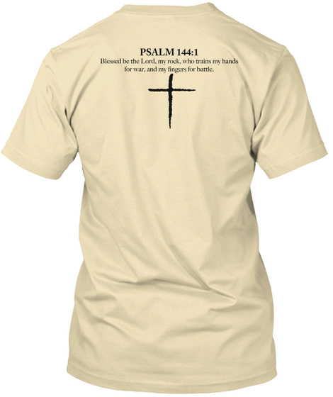 "Hkm ""Cross"" Tee Cream T-Shirt Back"