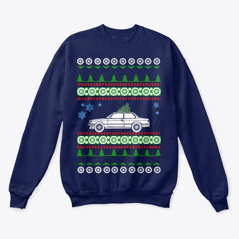E21  Ugly Christmas Shirt Navy  T-Shirt Front