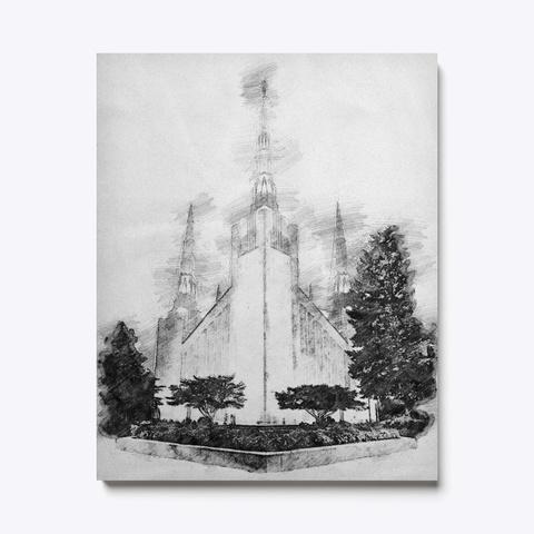 Portland Oregon Temple Sketch Standard T-Shirt Front