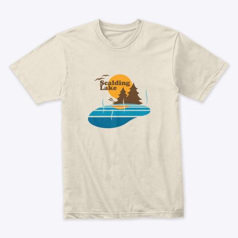 Scalding Lake Cream T-Shirt Front