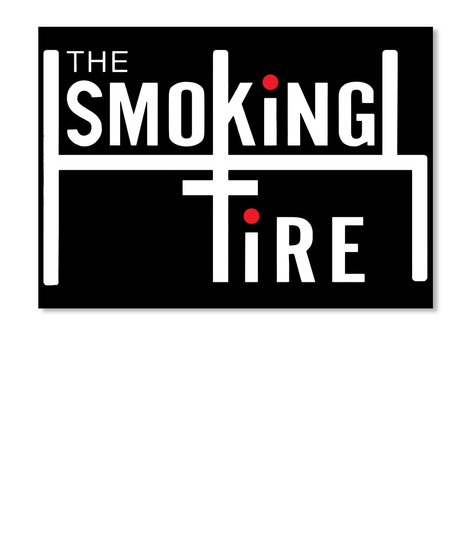 The Smoking Tire Black Sticker Front