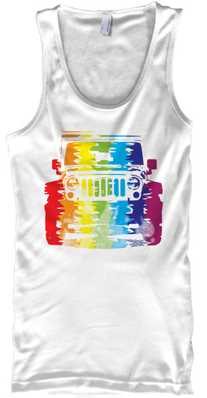 Lgbt Pride 2 White Tank Top Front