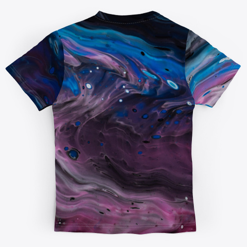 Psychedelic Abstract Marbled Paint Standard T-Shirt Back