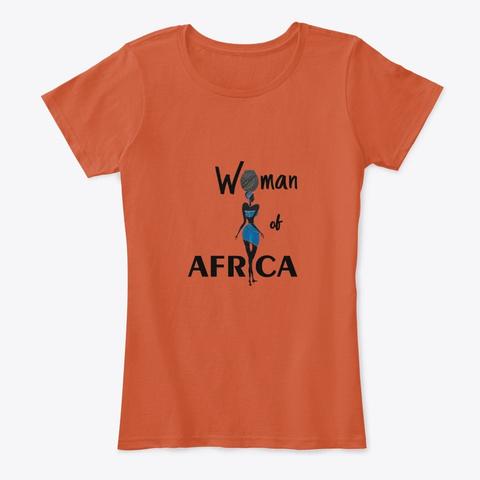 Woman Of Africa Deep Orange T-Shirt Front