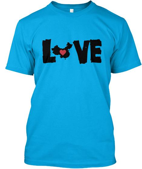 L Ve Turquoise T-Shirt Front