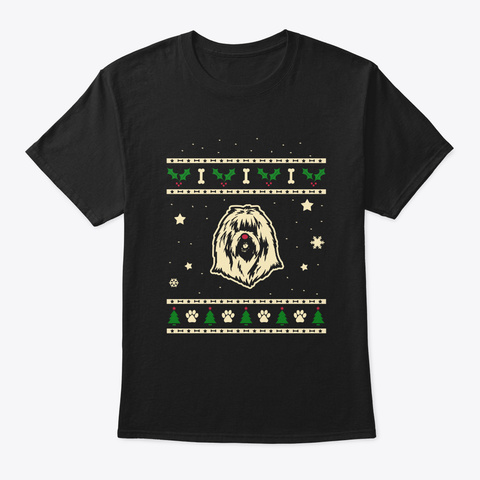 Christmas South Russian Ovcharka Gift Black T-Shirt Front