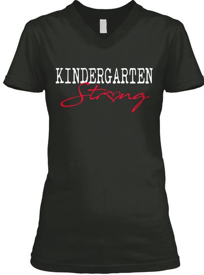 Kindergarten Strong Black T-Shirt Front