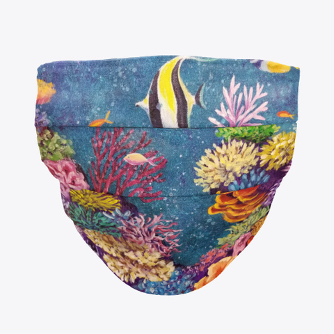 Coral Reef Face Mask Standard T-Shirt Front